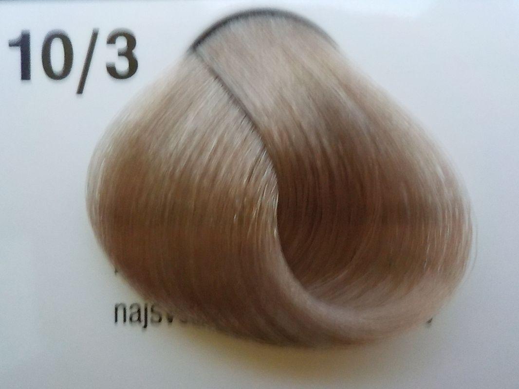 Barva na vlasy Subrina professional Unique 10/3 - nejsvětlejší blond cendre