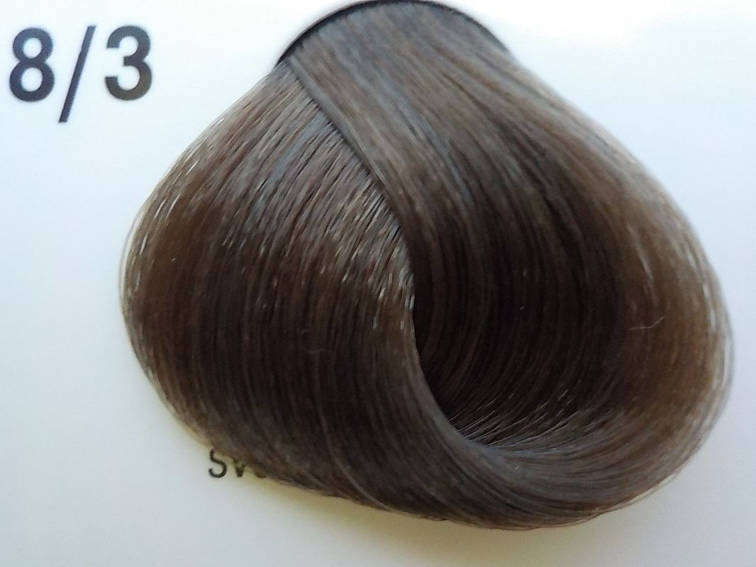 Barva na vlasy Subrina professional Unique 8/3 - světlý blond cendre