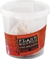 Black Flash Meches Colorante Fire Red 250g - Barevný melírovací prášek