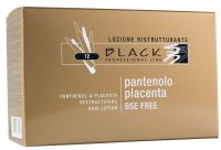Black Panthenol & Placenta Hair Lotion 12x 10ml - vlasové ampule k reviatlizaci vlasů.