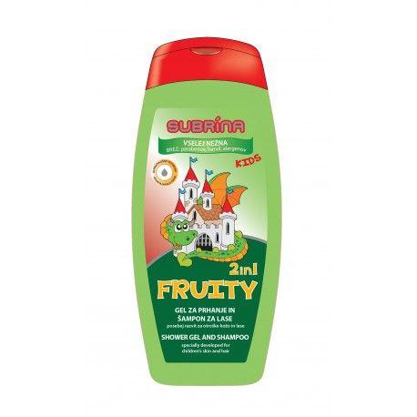 Dětský sprchový gel a šampon 2v1 Fruity 250ml Subrina