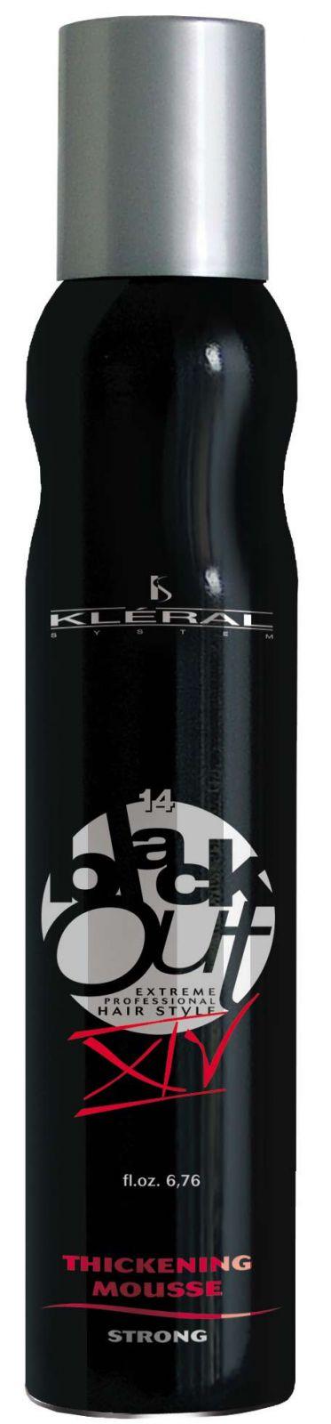 Kléral System Black Out Thickening Mousse Strong XIV 200 ml - pěnové tužidlo na vlasy
