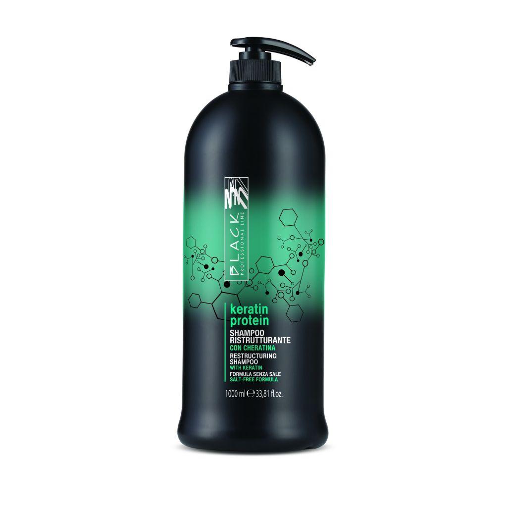Black Keratin Protein Shampoo Regenerační šampon pro vysílené vlasy 1000 ml