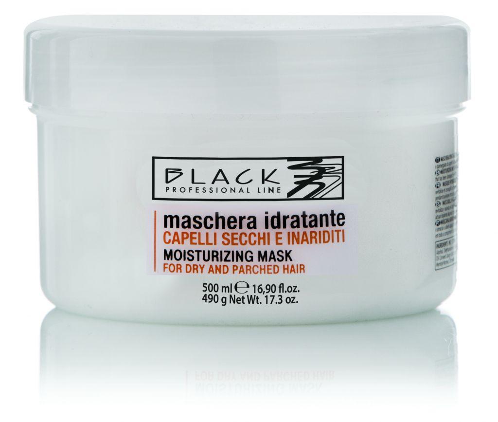 Black Maschera/Mask Secchi 500ml Moisturizing Mask - Black Maschera/Mask Secchi 500ml - Maska na suché, roztřepené a narušené vlasy