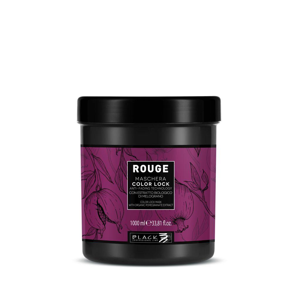 Black Rouge Mask Color Lock Maska pro barvené vlasy 1000 ml