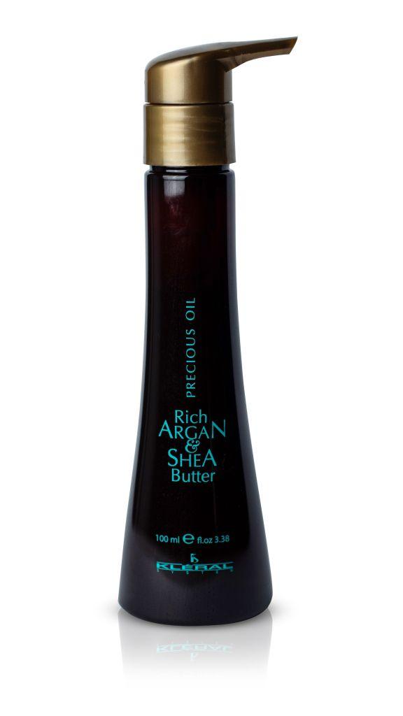 Kléral Argan & Shea Butter Precious Oil 100 ml - olej na vlasy Luxusní arganový olej pro poškozené a vysušené vlasy.