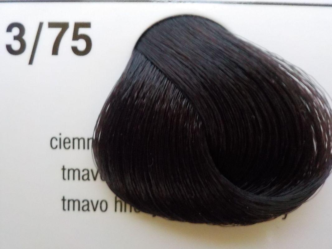 Barva na vlasy Subrina professional Unique 3/75 - tmavě hnědá hnědo červená