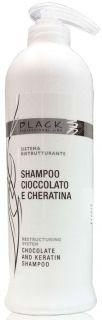 Black Shampoo Cioccolato E Cheratina 500ml - šampon na vlasy s kakaem a keratinem