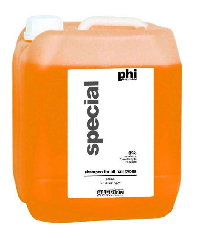 Subrina PHI Shampoo Papaya 5lt - papája šampon pro všechny typy vlasů
