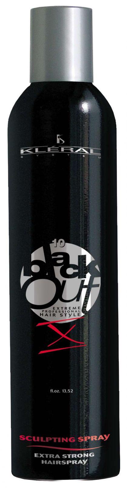 Kléral System Black Out Sculpting Spray X 400 ml - Profesionální extra silný vlasový sprej na vlasy.