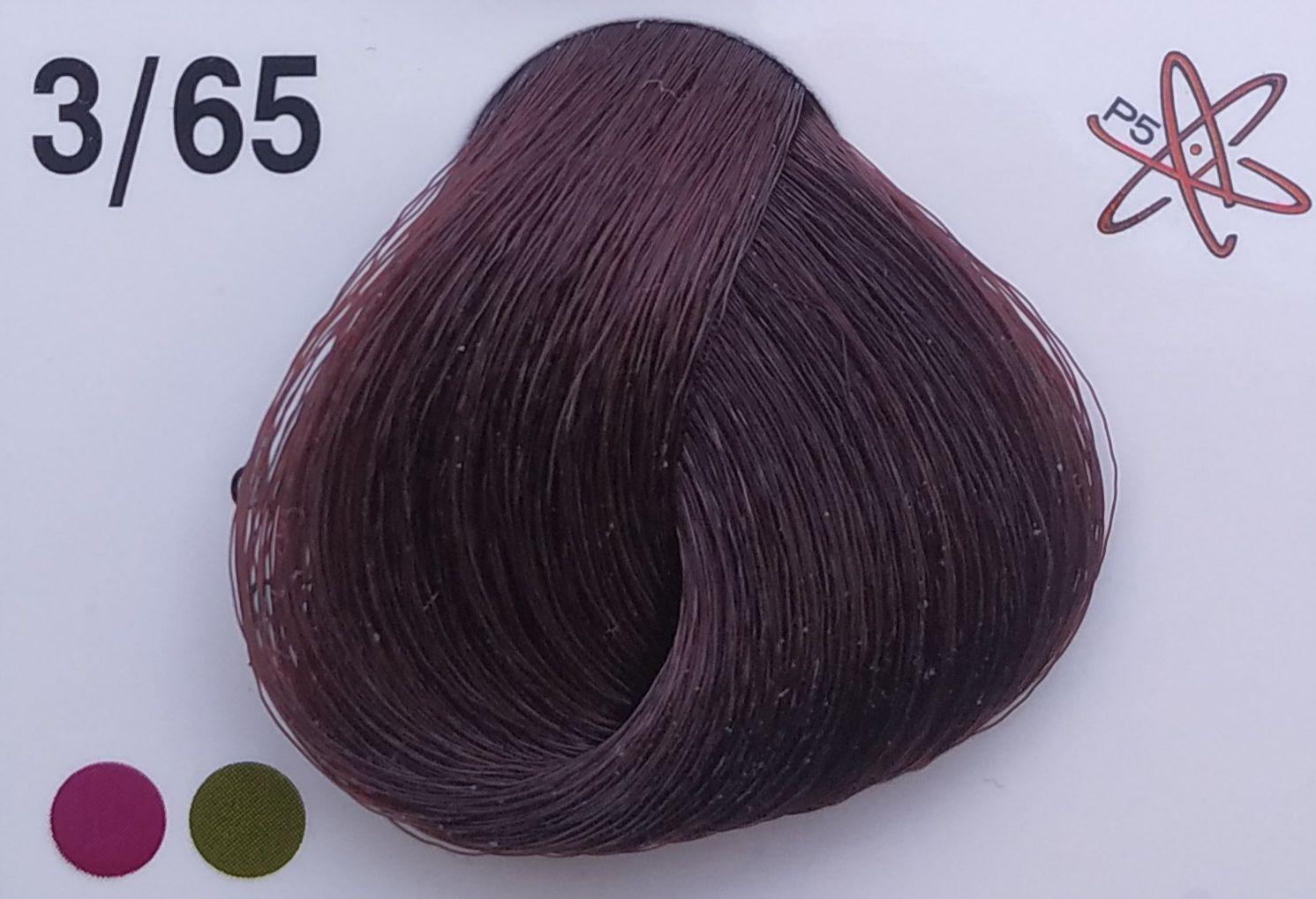 Barva na vlasy Subrina professional Unique 3/65 - tmavě hnědá mahagonová