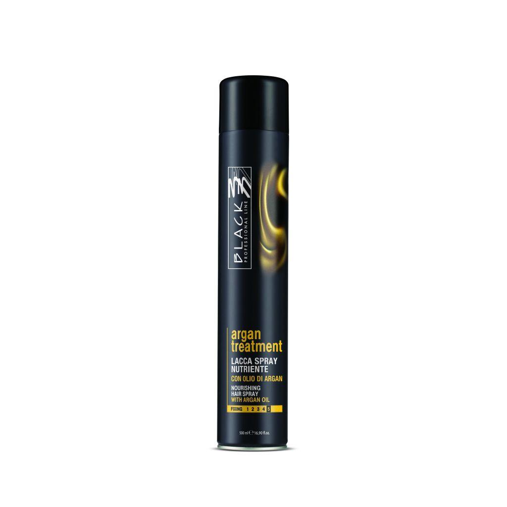 Black Argan Treatment Hair Spray 500 ml - lak na vlasy s arganovým olejem