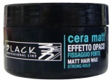 Black Hair Wax Strong Hold 100 ml - profesionální matující pasta na vlasy