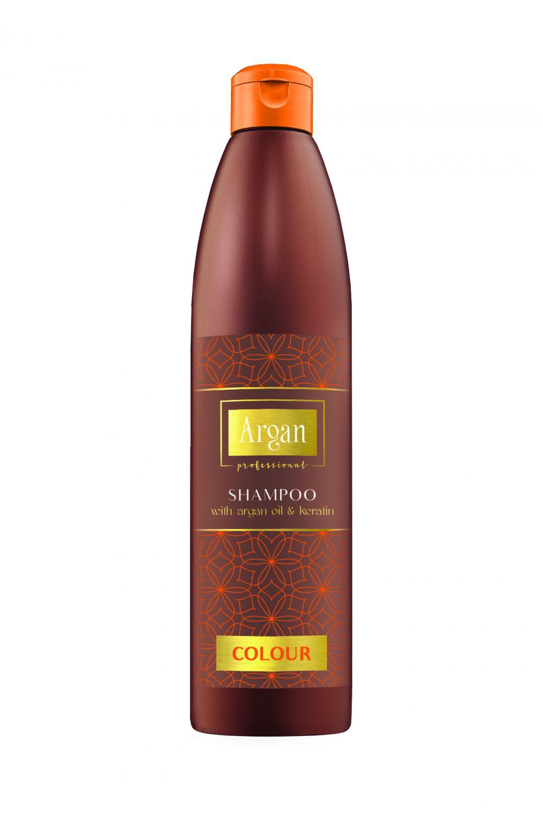 Subrina Argan Colour Shampoo 500 ml - Šampon na barvené vlasy s arganovým olejem a keratinem